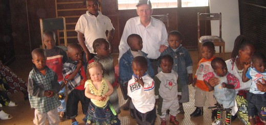 cameroon.glores. Mike Thomas with children