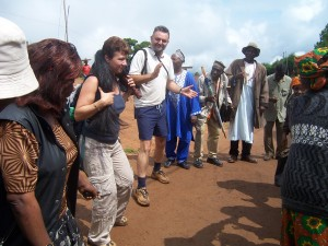 cameroon.eucalyptus.replacement.project. Alan and Teresa Stewart at Oku