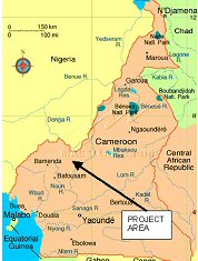cameroon.map. Location of the NW region