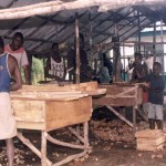 fioh.fund.sierra.leone.post.war.reconstruction. Vocational training at Mile 91. Carpentry 2000