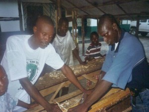 fioh.fund.sierra.leone.post.war.reconstruction. Carpentry training at MIle 91 2002