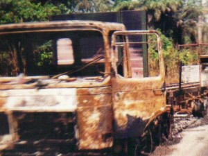 fioh.fund.sierra.leone.post.war.reconstruction. Rebel attack on convoy 1996