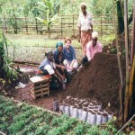 cameroon.shumas.eucalyptus.replacement.project.phase1. Site of pilot project at Kongir, Kumbo. Volunteer Lizzie Jeans 2001