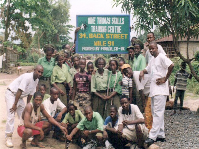 sierra.leone.post.war.reconstruction. Trainees at Mile 91 - 2000
