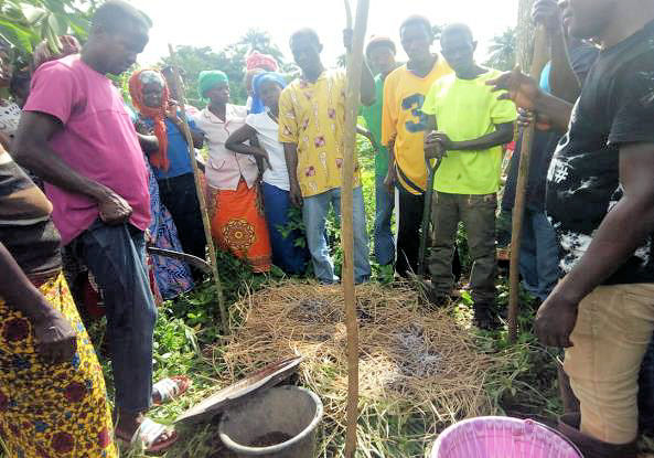 agroecological training on compost making